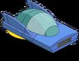 Voiture volante garée