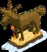 Bouc géant en feu