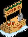 Stand festif à boissons chaudes