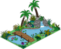 Bassin d'agrément exotique