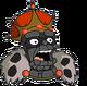Vieux roi charbon Surpris