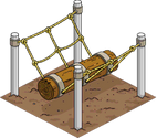Obstacle rondin