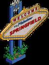 Panneau ''Bienvenue à Springfield''