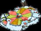 Roue de Noël détruite