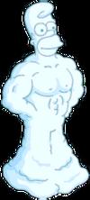 Homer de neige