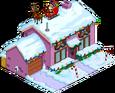 Maison violette de Noël