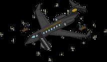 Avion de cuir noir