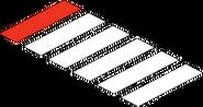 Passage clouté Fierté (rouge)