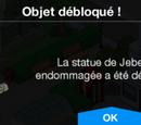 Statue de Jebediah endommagée