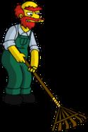 Willie raking4
