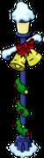 Lampadaire festif en cloche