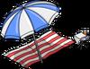 Serviette de plage et parasol