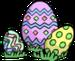 Tas d'œufs de Pâques