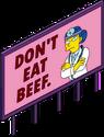 Panneau de propagande pro-viande