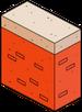 Mur en briques rouges