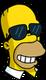 Homer Lunettes de soleil