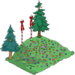 Grande colline enneigée de Noël
