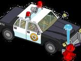 Voiture de police accidentée