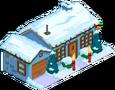 Maison bleue de Noël