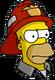 HomerPompier Ennuyé
