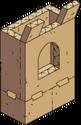 Mur en carton