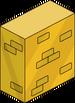 Mur de briques en or massif