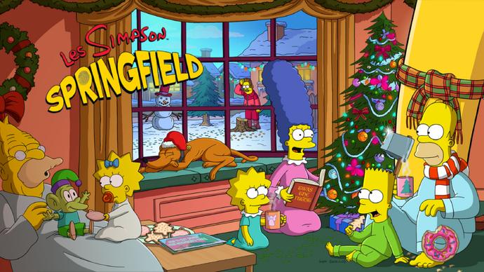 Noël des Simpson Accueil