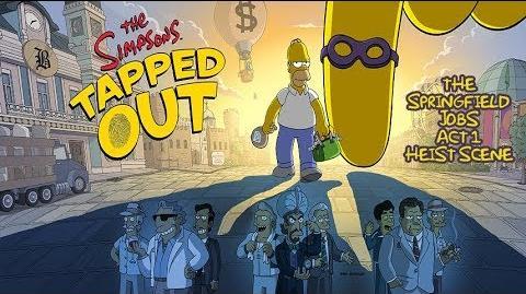 Les Simpson Springfield. Scène Acte 1 Braquage à la Springfieldienne