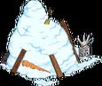 Congère de neige