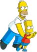 Homer and Bart You Don't Win Friends With Salad