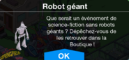 Robot géant Boutique