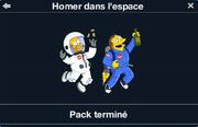 Homer dans l'espace pack