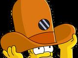 Homer chapeau espion