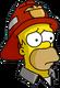 HomerPompier Triste