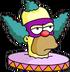 Face de Clown Ennuyé