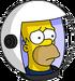 HomerAstronaute Triste