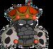 Vieux roi charbon Ennuyé