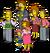 Membres de la famille Flanders