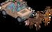 SUV tracté par chevaux