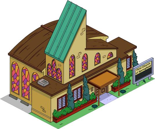 Premi 232 Re 201 Glise De Springfield Wiki Les Simpson