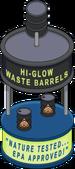 Barils de déchets phosphorescents