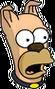Chien Homer Surpris