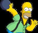 Homer Joueur de bowling