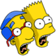 Bart et Milhouse Hurlant