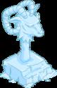 Statue du dieu à tête de bouc