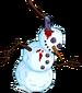 Bonhomme de neige massacré