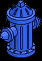 Bouche d'incendie Fierté bleue