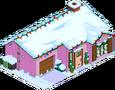 Maison rose de Noël