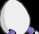 Homme en costume d'œuf