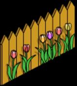 Clôture en bois Pâques